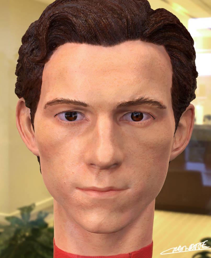 Tom Holland 3D headsculpt render by Chenks-R