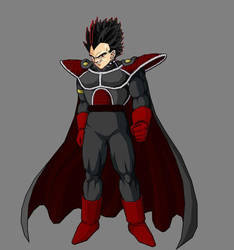 Belial in Saiyan armour by kjstyles2x-treme