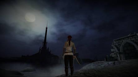 The melancholic tower by AuroraNin