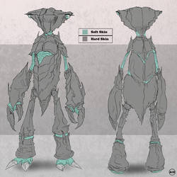 Orthographic Creature Concept by ArtistryFree