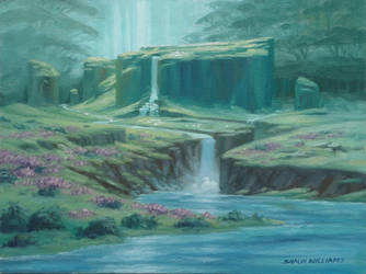 Waterfall Pass of the Emerald Realm by shauncharles