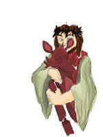 Jesus Christ hugging Foxy by neonlover2000