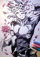 JJBA - Giorno (Traditional) by 7Repose