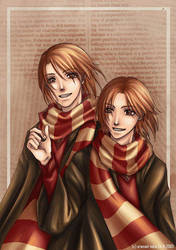 - weasley twins - by aramaki