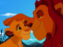 Simba and Mufasa by Lullaby-of-the-Lost