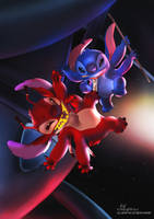 Stitch vs Leroy by Lullaby-of-the-Lost