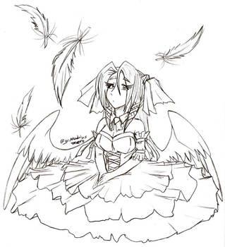 Goth Angel by MobiusZero