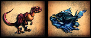 Prehistoric Troublemakers by KKylimos