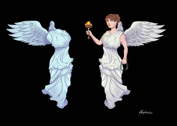 Winged Victory and Statue of Winged Victory of Sam by KKylimos
