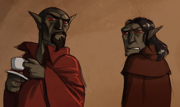 Neloth and Talvas by poly-m