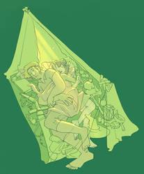 Sleepy adventurers by poly-m