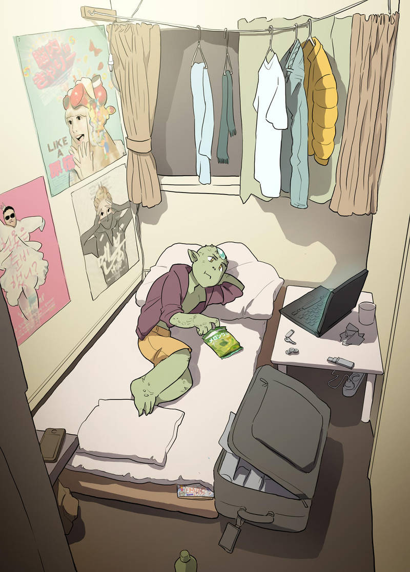 Kawato's Room by poly-m