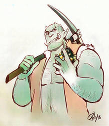 Orc Miner by poly-m