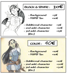 New commission prices by poly-m
