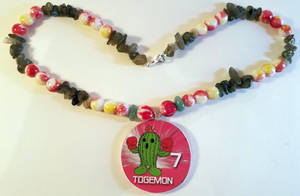 Upcycled Togemon Necklace by theloftyballoon