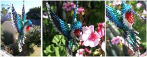Beaded Hummingbird by technologicallyinept