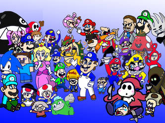SMG4 and the gang by GoForAPerfect2010
