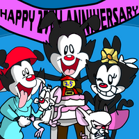 Animaniacs 25th anniversary by GoForAPerfect2010