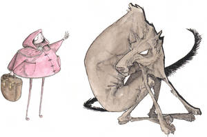 Red Riding Hood and the Wolf by man-personified