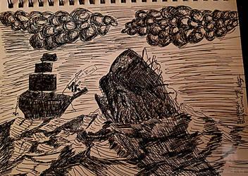 Whale Inktober 2018 day 12 by MrBanksArt