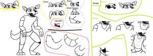 ANIMATRONIC DOG BASE - Customisable by KawaiiKittyBases