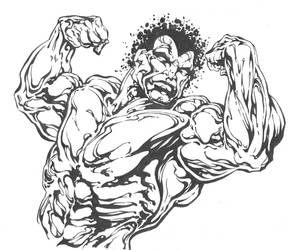 Inking Brute by Bart Sears by Madhouse-Workshop