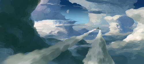 Through the Clouds by Andead