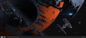 ILM Art Challenge - Wreckage of the Death Star by Andead