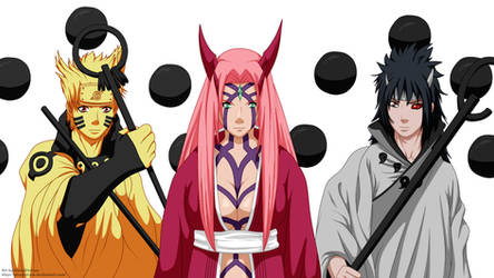 Team 7 (Naruto Sakura Sasuke) final form by AlexPetrow