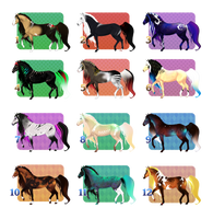 [OPEN 1/12] Mystic horses flat price by Dezaaru