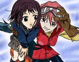 Haruko and Mamimi from FLCL by Yachiru09