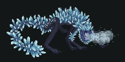 Ravenous Crystal Lizard by Kiara-Michelle