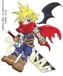 Chibi - Cloud, Final Fantasy 7 by 3yStudio
