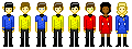Star Trek pixel crew by rachaelwrites
