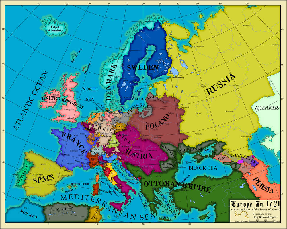 Europe 1721 by AHImperator ...
