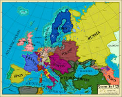 Europe 1721 by AHImperator