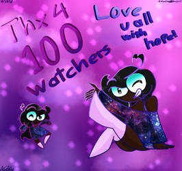 Thanks for 100 watchers 0w0 by Galaxyrainbowgirl