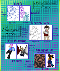 Digital Commissions (OPEN) by Galaxyrainbowgirl