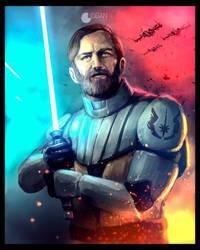 Star Wars: The Clone Wars - Obi Wan by CharlesLogan