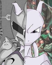 Facing Mewtwo by esper