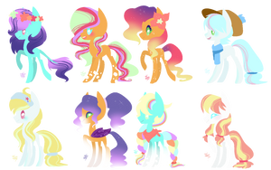 MLP Bred Adopts - Bright Foals (1/8 Open) by ProjectBlastArt