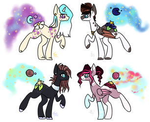 Star Blooms Common Adopts (4/4 Open) by ProjectBlastArt