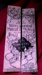 Marauders's map project by thewomaninred