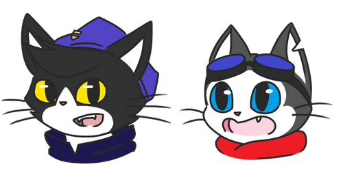 Rook and Mo Coloured by catgirl140