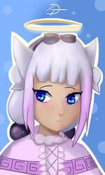 Kanna (Anime realism practice) by DEETEEh