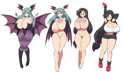 [COMM] Morrigan and Tifa by PaulGQ