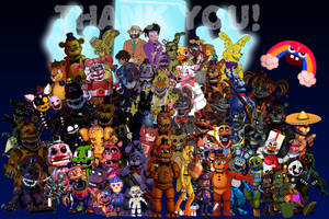 FNaF - THANK YOU COLLAB! (DONE) by The-PurplePixel