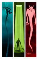 Monster Triptych by FredStesney