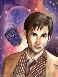 Doctor Who Portrait by AingealFay