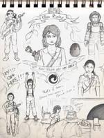 Sketchbook Project Page 8 by ElianaStarlight